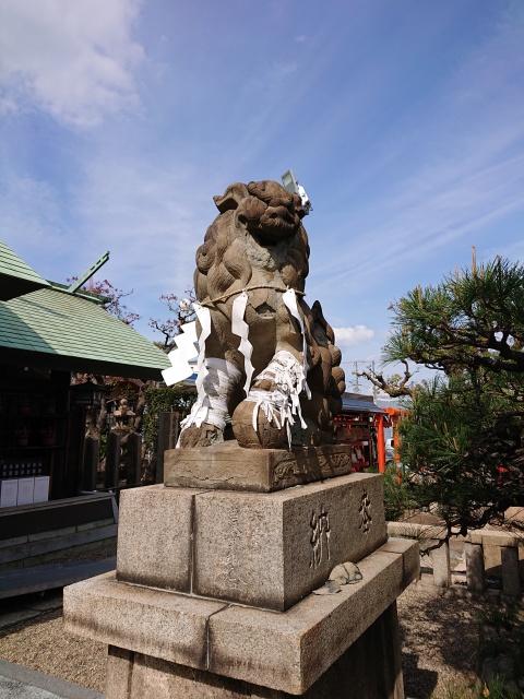 和田神社の狛犬。