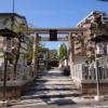 二宮神社の鳥居前。