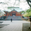 花園神社の拝殿。