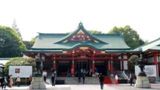 日枝神社の拝殿。